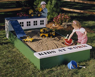 Sandbox : Large-format Paper Woodworking PlanToys & Kids Furniture Outdoor Backyard Structures
