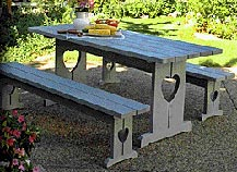 Picnic Table & Benches : Large-format Paper Woodworking PlanOutdoor Outdoor Furniture