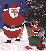 Medium & Small Santa : Large-format Paper Woodworking PlanHolidays