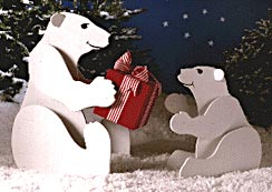 Polar Bears : Large-format Paper Woodworking PlanOutdoor Seasonal Yard Figures Holidays