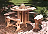 Apple Patio Table and Benches : Large-format Paper Woodworking PlanOutdoor Outdoor Furniture