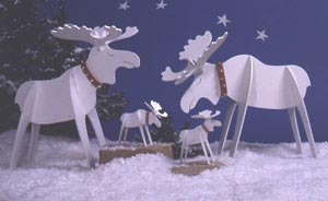 Medium & Small Moose : Large-format Paper Woodworking PlanHolidays
