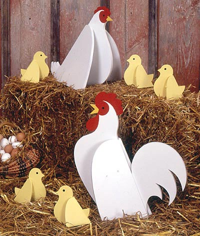 Chickens : Large-format Paper Woodworking PlanOutdoor Seasonal Yard Figures