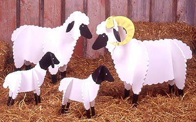 Sheep : Large-format Paper Woodworking PlanOutdoor Seasonal Yard Figures