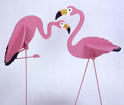 Flamingos : Large-format Paper Woodworking PlanOutdoor Seasonal Yard Figures