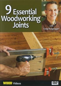 9 Essential Woodworking Joints - Video DVD