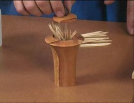 Turned Toothpick Dispenser - Downloadable Video