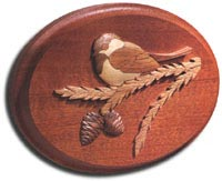 Chickadee Intarsia Plaque Woodworking Plan, Gifts & Decorations Scrollsaw, Carving, & Decorative Projects