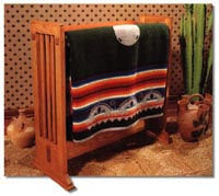 Arts and Crafts Quilt Rack Woodworking Plan, Furniture Quilt Displays