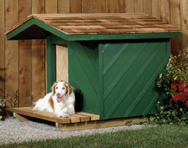 Dog House Woodworking Plan, Outdoor For Birds & Pets