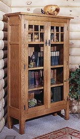 Arts and Crafts Bookcase Printed Plan