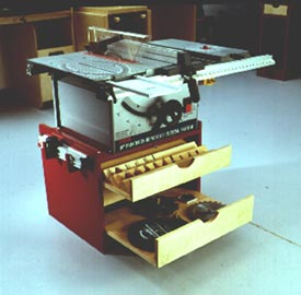 Mobile Tablesaw Base Woodworking Plan, Workshop & Jigs Tool Bases & Stands