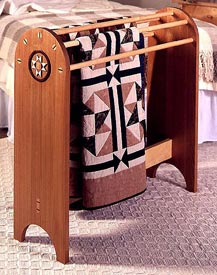 Shaker Quilt Stand Woodworking Plan, Furniture Quilt Displays