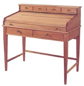 Rolltop Writing Desk Woodworking Plan, Furniture Desks