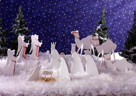 Tabletop Nativity Scene Downloadable Plan