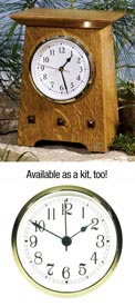 Arts & Crafts Clock Plan Woodworking Plan, Gifts & Decorations Clocks