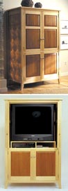 Maple & Cherry Armoire / TV Entertainment Center