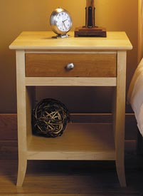 Maple & Cherry Nightstand Printed Plan