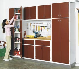 Utility Cabinet System for your Basement or Garage Downloadable Plan