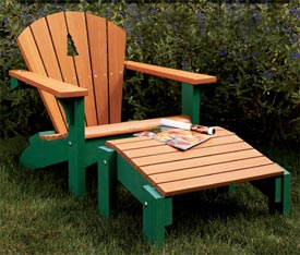 Adirondack Chair & Footstool Printed Plan