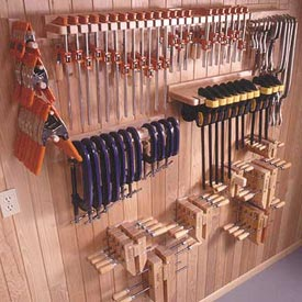 Five Great Clamp Organizers Woodworking Plan, Workshop & Jigs Shop Cabinets, Storage, & Organizers