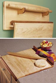 Baker's Trio - Pastry Board, Rolling Pin, & Wall Rack Downloadable Plan
