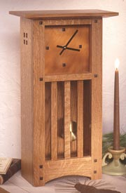Arts and Crafts Mantle Clock Woodworking Plan, Gifts & Decorations Clocks