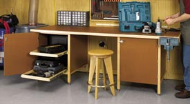 Tough-Stuff Workbench Woodworking Plan, Workshop & Jigs Workbenches
