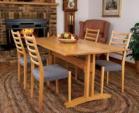Trestle Table Woodworking Plan, Furniture Tables