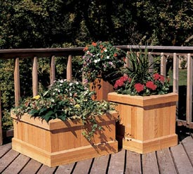 Trio of Cedar Planters Downloadable Plan