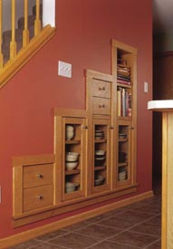 Space-saving modular bult-ins Woodworking Plan, Furniture Cabinets & Storage