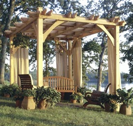 Build-to-Suit Pergola Woodworking Plan, Outdoor Backyard Structures