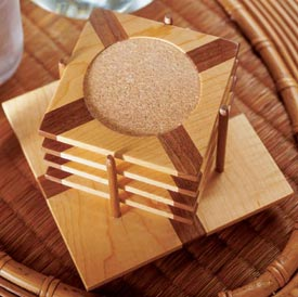 Eye-catching coasters Woodworking Plan, Gifts & Decorations Kitchen Accessories
