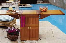 Patio Party Center Woodworking Plan, Outdoor Outdoor Furniture