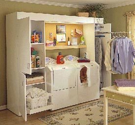 Full-service laundry center Woodworking Plan, Furniture Cabinets & Storage
