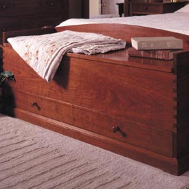 Shaker-style blanket chest Woodworking Plan, Furniture Chests