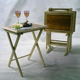 Folding tray tables Woodworking Plan, Furniture Tables