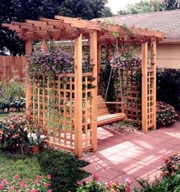 Garden Arbor Getaway Woodworking Plan, Outdoor Backyard Structures