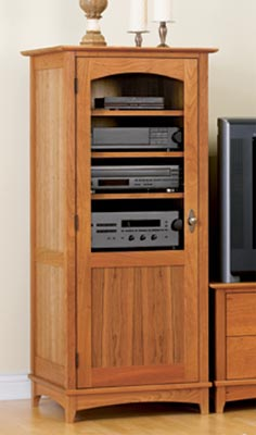 Entertainment center tower cabinet