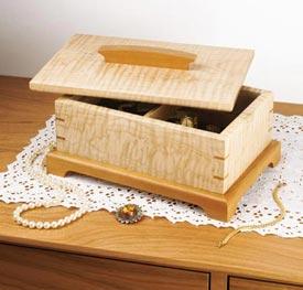 Secret-compartment jewelry box Downloadable Plan