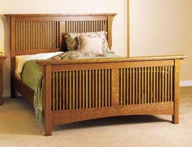 Arts & Crafts Bed, Mission Style Downloadable Plan