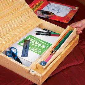 On-the-go lap desk Woodworking Plan, Toys & Kids Furniture Furniture Desks