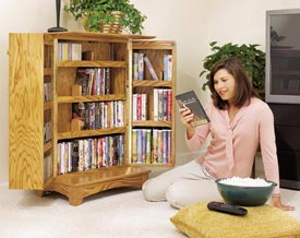 Media Storage for movies, music, and more Woodworking Plan, Furniture Cabinets & Storage Furniture Entertainment Centers