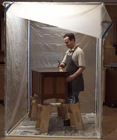 Portable Finishing Center Woodworking Plan, Workshop & Jigs Shop Cabinets, Storage, & Organizers
