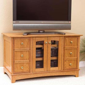 Compact Entertainment Center Woodworking Plan, Furniture Entertainment Centers