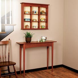 Curio Shelf and Hall Table Woodworking Plan, Furniture Tables Furniture Bookcases & Shelving