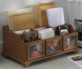 Picture-Perfect Countertop Organizer Woodworking Plan, Gifts & Decorations Boxes & Baskets Gifts & Decorations Picture Frames