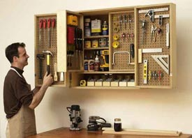 Shop-in-a-box tool cabinet Downloadable Plan