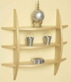 Quick-to-make contemporary wall shelf Downloadable Plan
