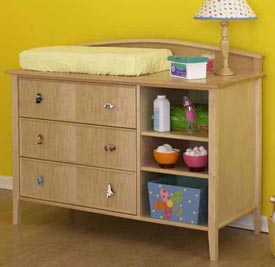 Double-duty changing table/dresser Printed Plan